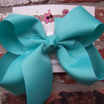 Large Boutique Hair Bow Choose Color Karens Creations