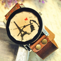 Retro Leather Watch Vintage Style Wrist Watch (WAT0011)