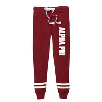 Alpha Phi Thermal Joggers, Alpha Phi Sweatpants, Alpa Phi Apparel, APhi Jogging Pants, Greek Apparel, Sorority Letter Shop