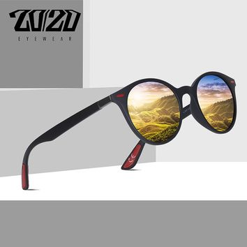 20/20 Brand Design Sunglasses Men Polarized Oval Frame Fishing Sun Glasses Women Men Vintage Unisex Goggles Oculos De Sol