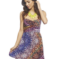 Colorful Boho Tube Dress | Wet Seal