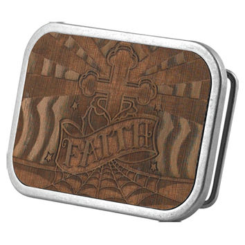 Faith Wood Belt Buckle