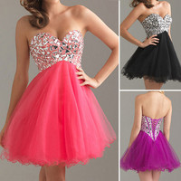 Homecoming Lady's Dress short Wedding Evening Party Prom Cocktail Ball Prom Gown