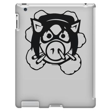 pig wheels angry iPad 3 and 4 Case