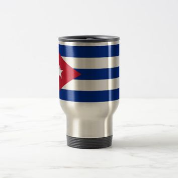 Travel Mug with Flag of Cuba