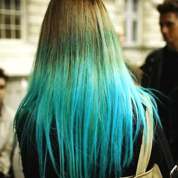 HAIR CHALK: Electric Blue // Temporary Hair Color // Chalk Pastel Dye