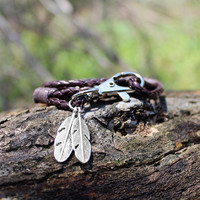 New Arrival Shiny Awesome Stylish Gift Great Deal Hot Sale Feather Keychain Vintage Bracelet [6464855937]
