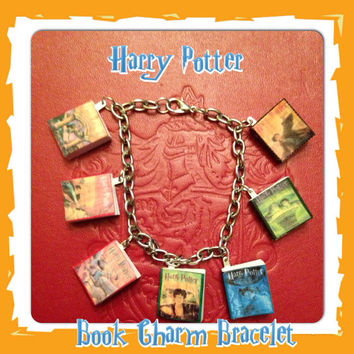 Harry Potter Book Charm Bracelet