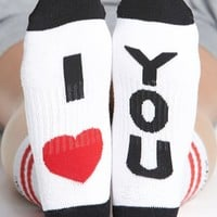 Women's Arthur George by R. Kardashian 'I Love You' Socks