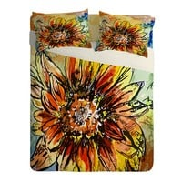 Ginette Fine Art Sunflower Moroccan Eyes Sheet Set Lightweight