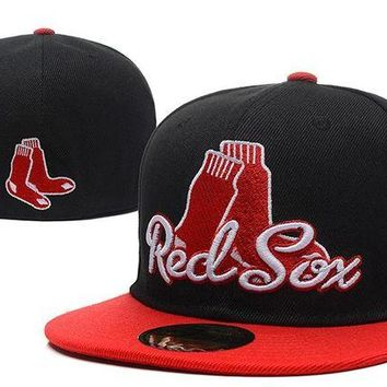 DCCKBE6 Boston Red Sox New Era MLB Authentic Collection 59FIFTY Hat Black-Red