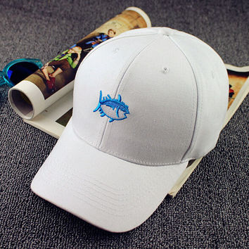 Embroidery Fish Baseball Cap Unisex Fashion Hot Gift