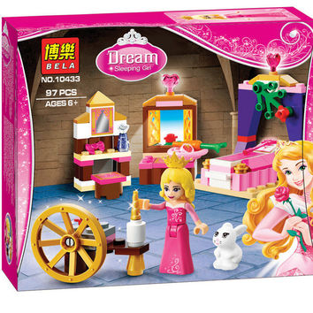 2016 New BELA Friends Building Blocks Girl Sleeping Beauty Bedroom Gift Toy Compatible Legoe Princess 41060