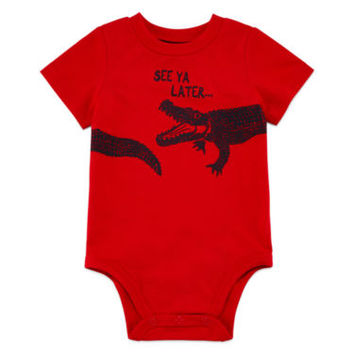 Okie Dokie® Short-Sleeve Graphic Bodysuit or Shorts - Baby Boys newborn-24m