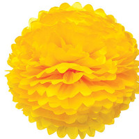Large Yellow Tissue Paper Pom Pom Pouf