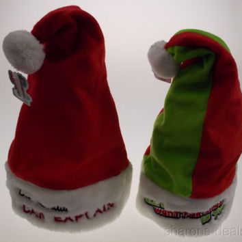 Set 2 Santa Hats Adult Dear Santa I Can Explain & All I Want For Xmas Is You NEW