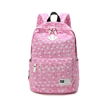 On Sale Stylish Back To School Hot Deal Comfort Casual College Fashion Korean Canvas Backpack [6304977348]
