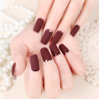 24 PCS Metal Frosted Nail Art