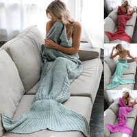 PLEATED MERMAID TAIL BLANKET