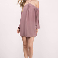 KATE OFF SHOULDER SHIFT DRESS