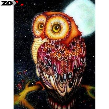 ZOOYA 5d diy diamond embroidery moonlight cute owl diamond painting Cross Stitch full square Rhinestone mosaic home decoration