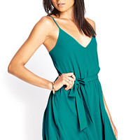 Self-Tie Surplice Dress