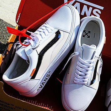 OFF-WHITE x Vans Low to help men and women ski shoes