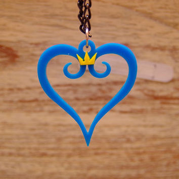 Kingdom Hearts Acrylic Plastic Pendant Necklace for couple and gamer design for gamer