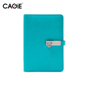 Kawaii Notebook Cagie a6 Planner Diary Pu Leather Travelers Journal Lined Notebook Paper Spiral Daily Agenda Binder Filofax