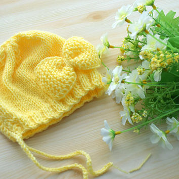 Baby Girl Hat Newborn Girl Hat Bow Knit Baby beanie Knitting toddler girl hat little girl hat winter fall Baby shower gift Photography Prop