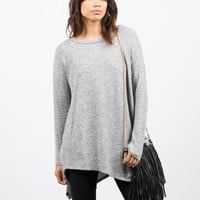 Tiger Brushed Asymmetrical Top