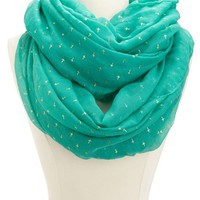 FOILED CROSS INFINITY SCARF