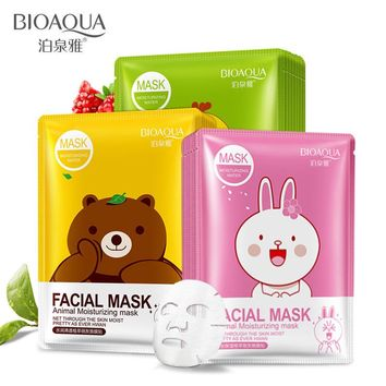 vitamin fruit plant extraction cartoon invisible film filling water Moisturizing facial mask skin care