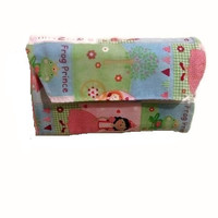 Pink and Purple Princess Crayon Rollup Crayon Wallet