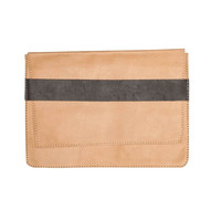 Raven and Lily Yami Topstitch Taupe Clutch