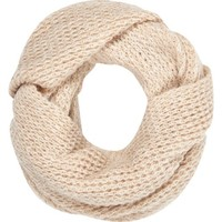 Cream waffle knit snood - scarves - accessories - women