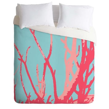 Rosie Brown Pink Seaweed Duvet Cover
