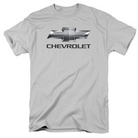 CHEVY/CHEVY BOWTIE-S/S ADULT 18/1-SILVER