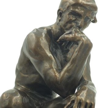 The Thinker Statue of Deep Contemplation by Rodin Large 10H