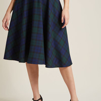 Hell Bunny Keep the Classics Coming Midi Skirt in Navy