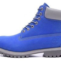 ONETOW Timberland Rhubarb Boots 2018 Blue Waterproof Martin Boots