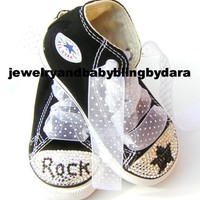 Bling Swarovski Crystal ROCK STAR Black por jewelrybabyblingdara
