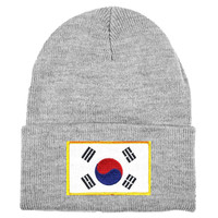 South Korea MyCountry Solid Knit Hat (Sport Gray)