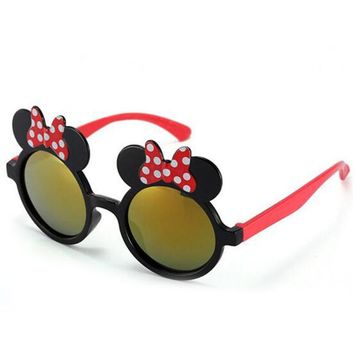 Polarized Sunglasses Baby Banz for Kids Children Toddler Shades Goggles UV Protection Glasses Style Disney Girls Mirror Minnie Mouse