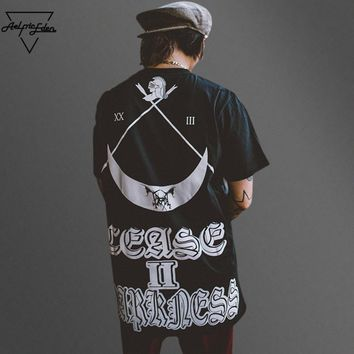 ca qiyif Crescent Hi Street Short Sleeves Tee