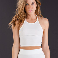 Ribbed Knitty Gritty Halter Crop Top GoJane.com