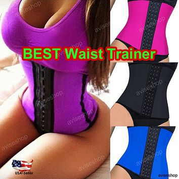 #1 Best Underbust Waist Trainer Cincher Corset Girdle Workout Belt Shaper Top