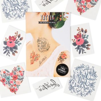 Tattly Temporary Tattoo Set | The Floral Set
