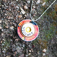 Artist and Autumn Necklace - Vibrant Charm Necklace - Personalized Hand Stamped Necklace
