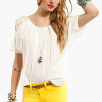 Lacey Shoulder Blouse
